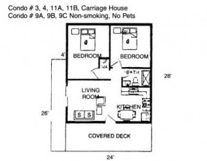 Hickory Hollow Resort Table Rock Lake Cabin 3 Floor Plan