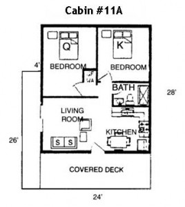 Hickory Hollow Resort Table Rock Lake Cabin 11A Floor Plan
