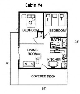 Floor Plan Cabin 4