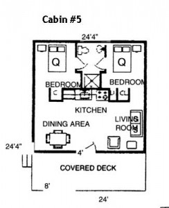 Hickory Hollow Resort Table Rock Lake Cabin 5 Floorplan
