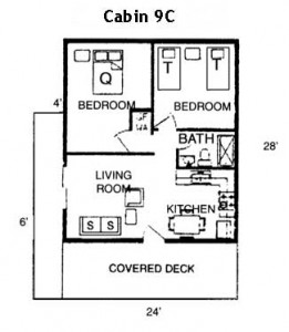 Cabin 9C Floor Plan