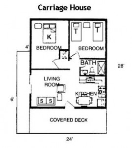 Hickory Hollow Resort Table Rock Lake Carriage House Floor Plan
